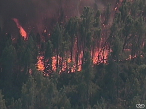 The northern California fire had burned 2,300 acres by Thursdsay afternoon, officials said.