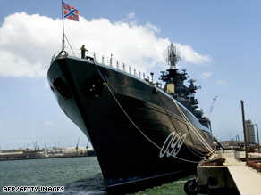 Russian missile cruiser