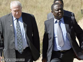 Prime Minister Morgan Tsvangarai (right) wrote to the high court guaranteeing Roy Bennett was not a flight risk.