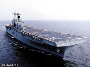 The guided missile frigate USS Halyburton, with helicopter capabilities, is now at the scene.