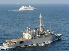 The French frigate Nivose, pictured last year patrolling the Gulf of Aden.