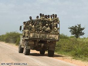 Ethiopian troops roll into Somalia in 2006.