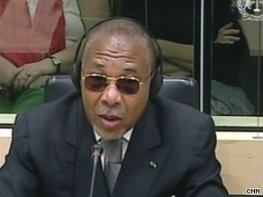 Taylor is the first African head of state to go on trial for war crimes before the international tribunal.
