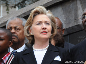 Secretary of State Hillary Clinton, here in Nairobi, Kenya, on Thursday, will visit seven African nations in 11 days.