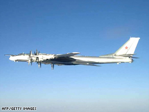 Canadian jets intercepted Russian TU-95 Bear bomber aircraft last week similar to this one.