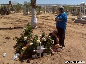 Maria Jesus Coronado Padilla mourns her 2-year-old daughter, Paulette Daniela Coronado Padilla on Sunday.