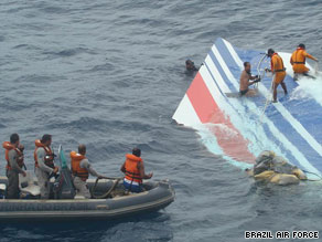 Recovery efforts have found several items confirmed to have come from Air France Flight 447.