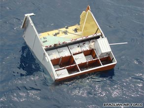 Wreckage from Flight 447 spotted by search teams in the Atlantic last week.