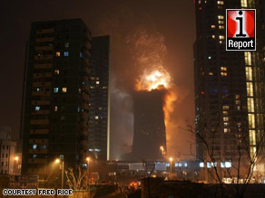 Fred Rice was watching fireworks when he saw flames rise from the Mandarin Oriental.