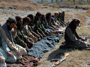 Pakistani Taliban militants offer prayers in Mamouzai area of  Orakzai Agency in November.
