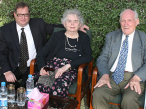 John Solecki is pictured with his parents Rose and Ralph during their visit to Quetta in April 2008.