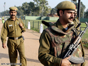 Police patrol in New Delhi last year following warnings of possible attacks using hijacked aircraft, officials said.