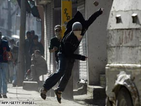 Protesters have clashed with Indian troops and police regularly in Srinagar.