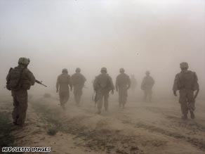 NATO-led troops in Afghanistan have killed a senior militant and nine of his associates.
