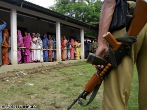 Up to 2 million security personnel have been deployed to safeguard India's elections