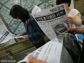Nuclear blasts haven't dislodged former president Roh's suicide from the top headlines in S. Korea's media.