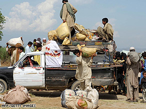 The fighting in the Swat Valley region has forced thousands of civilians to abandon their homes.