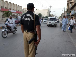 Coordinated attacks in Peshawar, Pakistan killed approximately 40 people today.