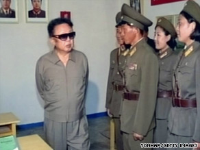 There have long been persistent rumours about Kim Jong Il's poor health (left).