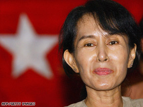 Myanmar opposition leader Aung San Suu Kyi has been held in confinement for 13 of the past 19 years.