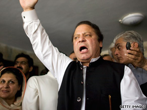 Sharif, head of the Pakistan Muslim League-N political party, returned from exile in 2007.
