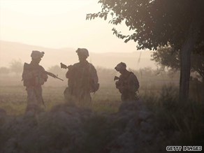 U.S. Marines take part in an operation to push Taliban fighters out of Herati, Afghanistan, on Sunday.