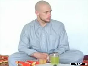 Pfc. Bowe Bergdahl, 23, appears in a video made by his captors, members of the Taliban.