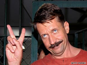 Viktor Bout gives the victory sign after a Thai court rejects the extradition request by the US.
