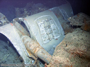 The gun turret of the Sydney II was discovered with the rest of the vessel in March 2008.