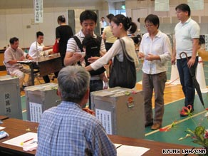 Voters in Tokyo head to the polls Sunday for Japan's parliamentary elections.