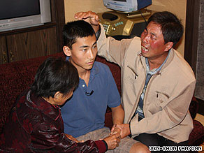 Christian Norris is reunited with is uncle and grandmother in Beijing.