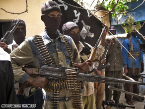 Islamist insurgents display their weaponry in Mogadishu during a parade in mid-January.