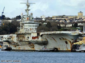 The scrapping of the aircraft carrier has been hugely controversial and a major headache for France.