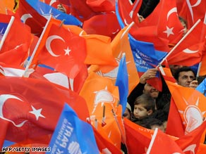 Turkey's local elections are widely seen as a referendum on it's prime minister's power struggle with the secular establishment.