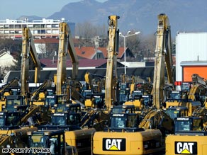 Caterpillar's French staff say they are angry about a lack of negotiations over layoffs.