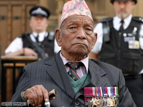Former Gurkha solider Tulbahadur Pun was awarded Britain's highest honor for bravery, the Victoria Cross.