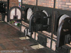 The ovens where tens of thousands of bodies were cremated are restored and working.