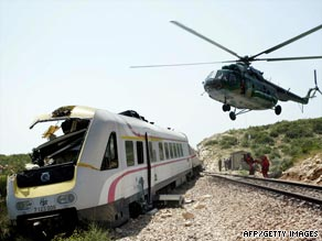 The high-speed train derailed on the outskirts of Split, Croatia, about noon on Friday.