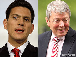David Miliband (left) and Alan Johnson were writing in Britain's Sunday Telegraph newspaper.