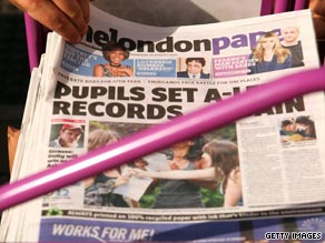 The Londonpaper, one of three free publications circulated in England's capital, is to close.