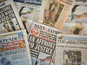 Newspapers on both the UK and the U.S. have broadly been critical of Al Megrahi's release.