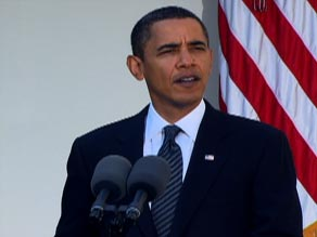 "President Obama, speaking Friday, said the award was ""an affirmation of American leadership."""