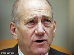 "Israeli Prime Minister Ehud Olmert says Israel's response will be ""disproportionate"" if rocket attacks continue."