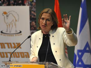 Tzipi Livni is campaigning for the chance to be Israels first female prime minister since Golda Meir.