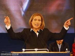 Kadima's Tzipi Livni won more support than was predicted in the Israeli elections.