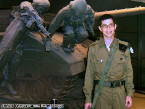 Gilad Shalit, who was seized by Palestinians, is shown in a family photo.