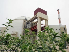 A building housing the reactor at the Bushehr nuclear power plant.
