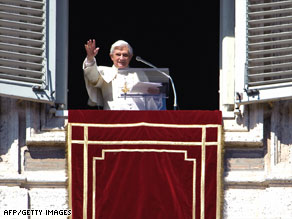 Pope Benedict XVI, shown at the Vatican during a prayer Sunday, has spoken out forcefully against the Holocaust.