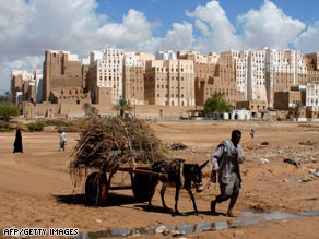 The city of Shibam is a UNESCO World Heritage Site.