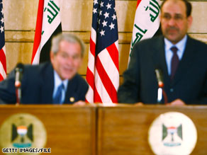 An Iraqi journalist touched off a firestorm when he threw his shoes at then-President Bush in December.